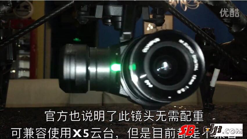 DJI的X5不兼容奥林巴斯12mm