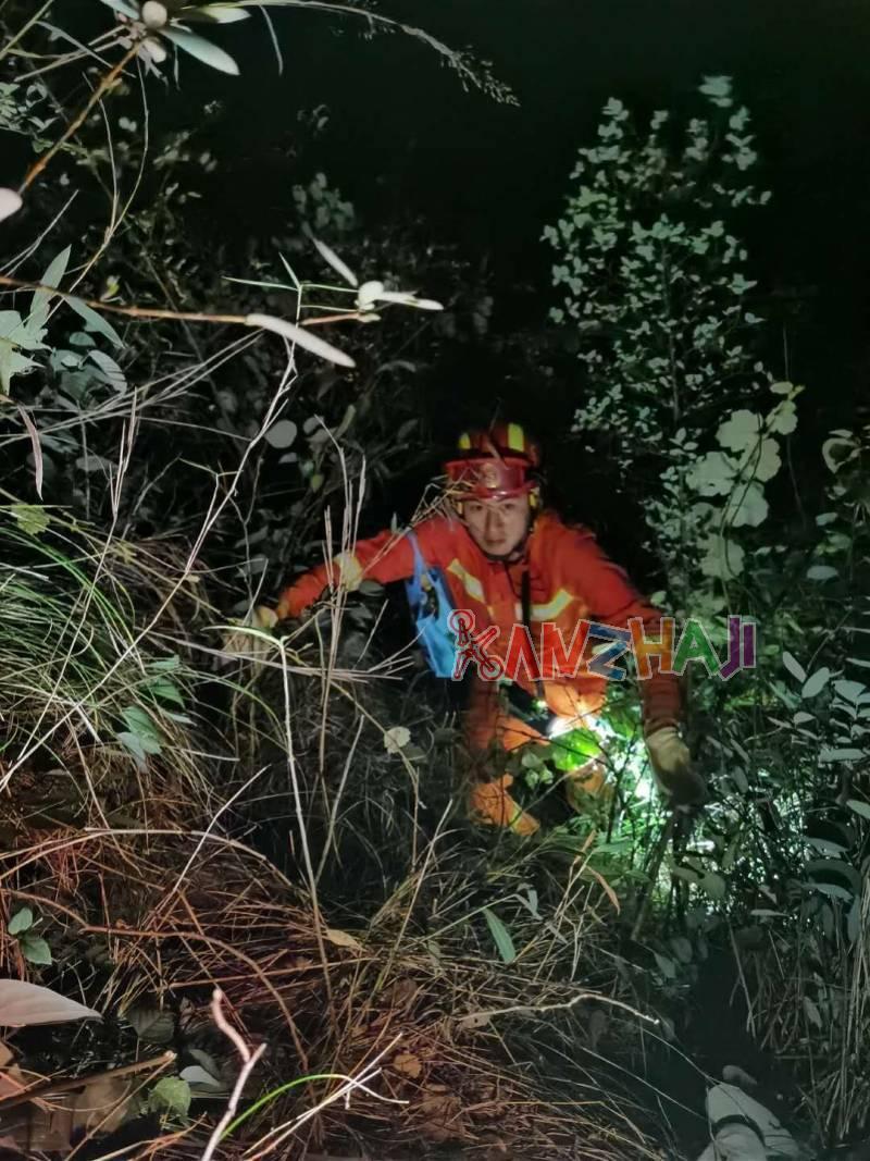 为寻找掉落的无人机,广东清远两男子被困深山8小时