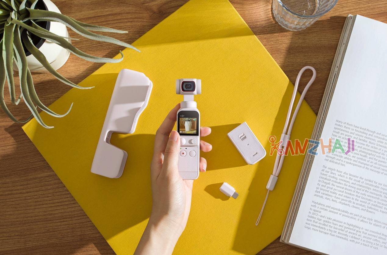 大疆创新发布口袋智能小相机DJI Pocket 2云暮白限定套装