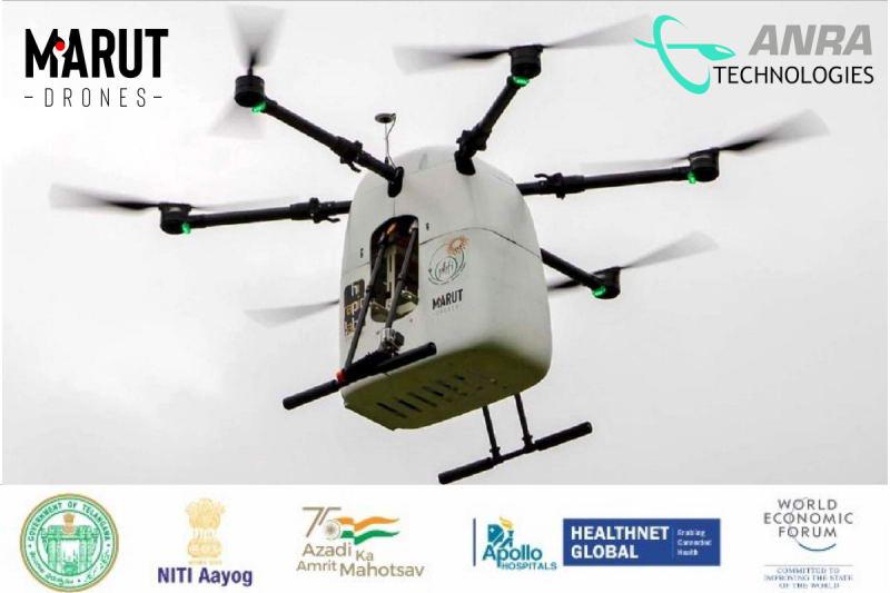 ANRA无人机从印度的天空运送药品