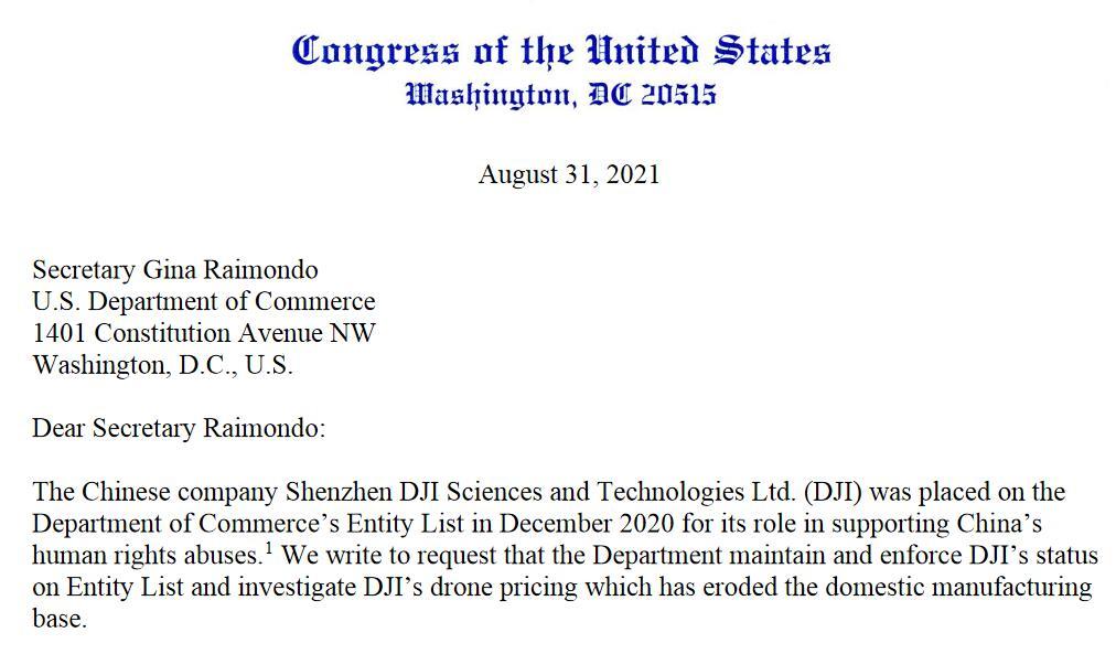 "DJI大疆创新可能继续留在美国""实体清单""上"