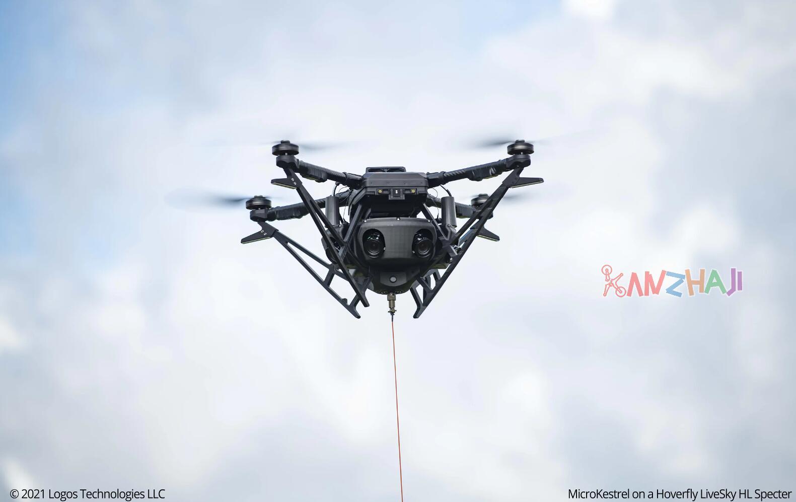 Logos Technologies推出系留无人机用MicroKestrel广域传感器